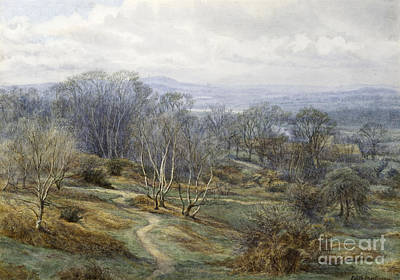 Hampstead Heath Looking Towards Harrow On The Hill Poster by Edith Martineau