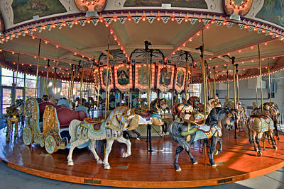 Hampton Carousel 2 Poster by Jerry Gammon