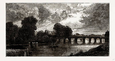 Hampton Court Bridge Poster by Litz Collection