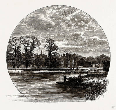 Hampton Court, From The River, Uk Poster by Litz Collection