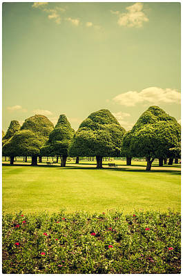 Hampton Court Palace Gardens Summer Colours Poster