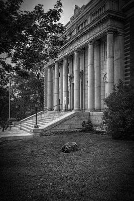 Hancock County Courthouse Maine Bw Poster by Joan Carroll