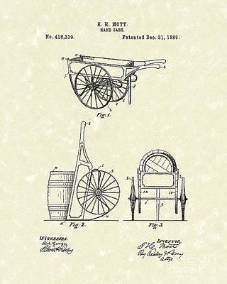 Hand Cart 1889 Patent Art Poster