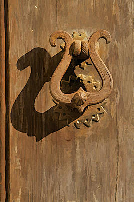 Hand Forged Iron Door Handle II Poster by David Letts