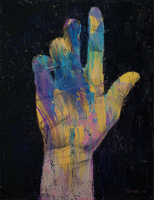 Hand Poster by Michael Creese