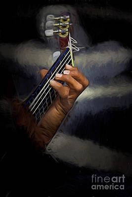 Hand Of A Spanish Guitarist Poster by Avalon Fine Art Photography