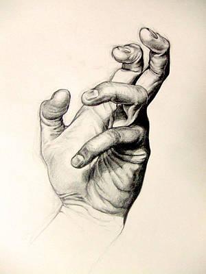 Hand Portrait Poster by Vanni Mangoni