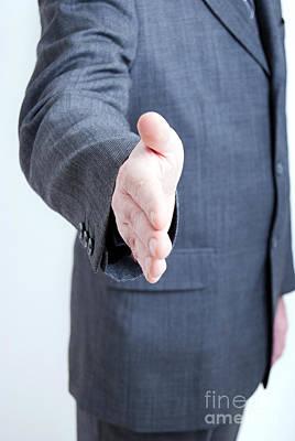 Hand Shake Gesture Poster by Antony McAulay