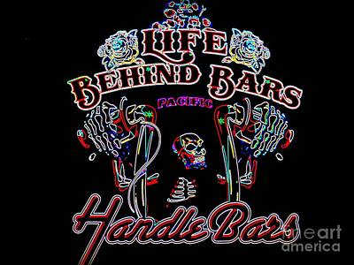 Handle Bars In Neon Poster