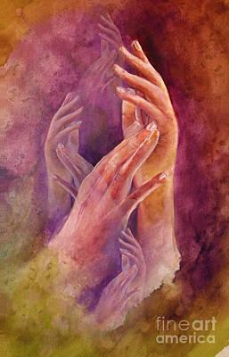 Hands Poster by Allison Ashton