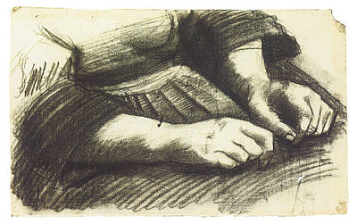 Hands In Repose Poster by Vincent Van Gogh