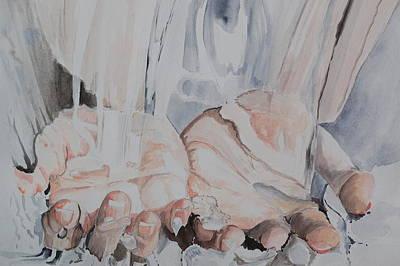 Hands In Water Poster