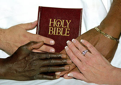 Hands On Bible Poster