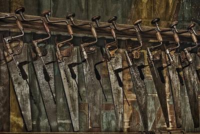 Handy Man Tools Poster by Susan Candelario