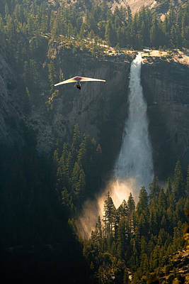 Hang Glider In Yosemite National Park Poster by Celso Diniz