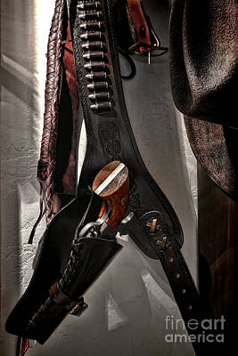 Hanging Revolver Poster by Olivier Le Queinec
