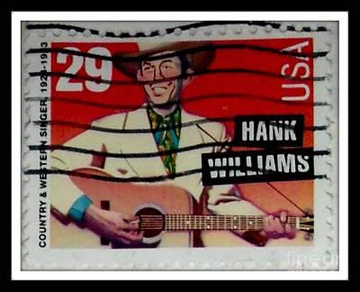 Hank Williams Postage Stamp Poster by Gail Matthews