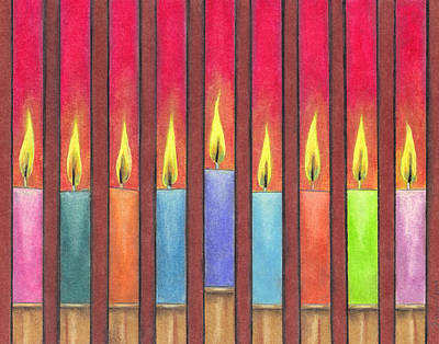 Hanukkah Candles Poster by Estefan Gargost