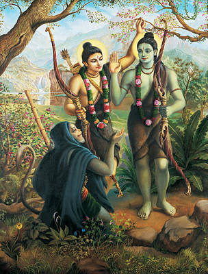 Hanuman Meeting Ram And Laxman Poster