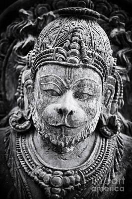 Hanuman Monochrome Poster