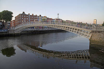 Ha'penny Bridge Dublin Ireland Poster