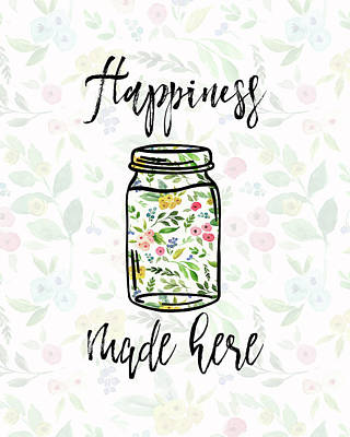 Happiness Made Here Poster by Tara Moss