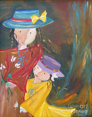 Poster featuring the painting Happiness by Nereida Rodriguez