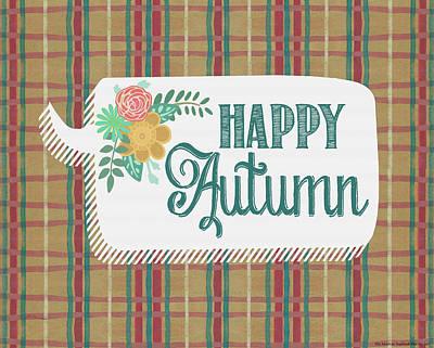 Happy Autumn Poster by Jo Moulton