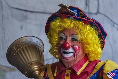 Happy Clown Poster by Susan Candelario