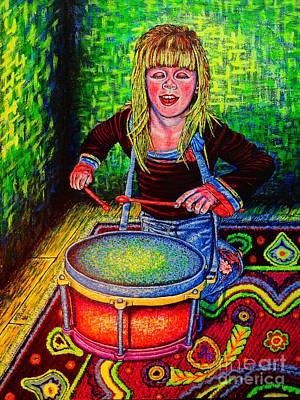 Happy Drummer Poster