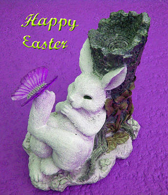 Happy Easter Card 4 Poster by Aimee L Maher Photography and Art Visit ALMGallerydotcom