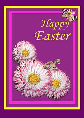 Happy Easter Hiding Bunny Poster