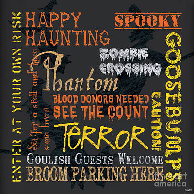 Happy Haunting Poster by Debbie DeWitt