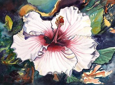 Poster featuring the painting Happy Hawaiian Hibiscus by Marionette Taboniar