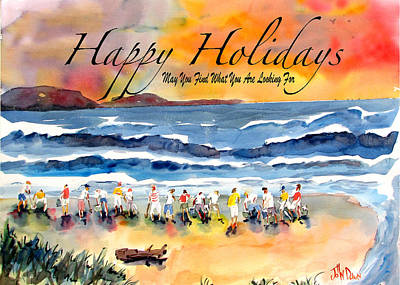Happy Holiday Clam Diggers Poster by John Dunn