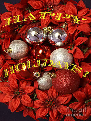 Happy Holidays Poster by Gary Brandes