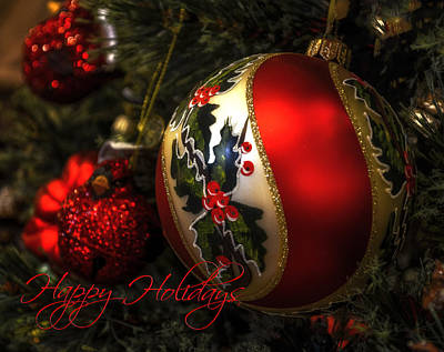 Happy Holidays Greeting Card Poster by Julie Palencia