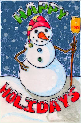 Happy Holidays Poster by Jame Hayes