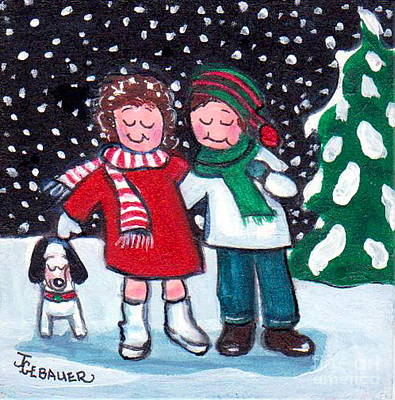 Poster featuring the painting Happy Holidays by Joyce Gebauer