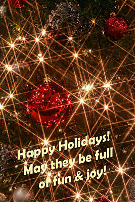 Happy Holidays Poster by Linda Phelps