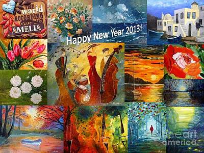 Happy New Year 2013 Poster by AmaS Art