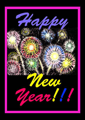 Happy New Year Poster by Irina Sztukowski