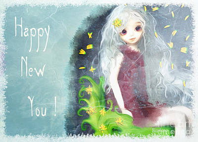Poster featuring the digital art Happy New You by Barbara Orenya