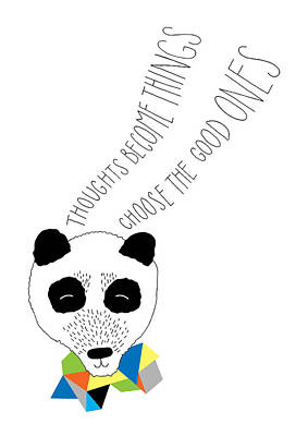 Happy Panda Variant 1 Poster by Susan Claire