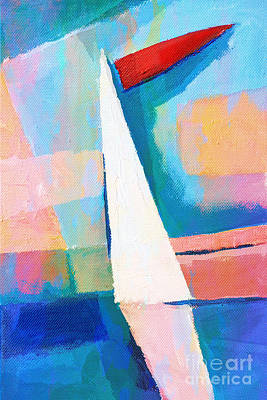 Happy Sailing Poster by Lutz Baar