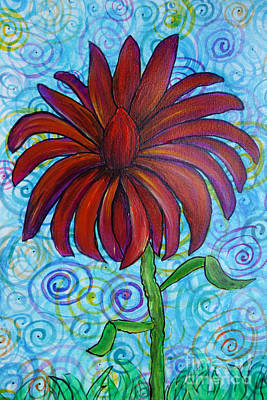 Happy Spring Flower Poster by Jacqueline Athmann