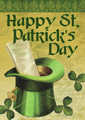 Happy St. Patrick's Day Poster by Tammy Apple