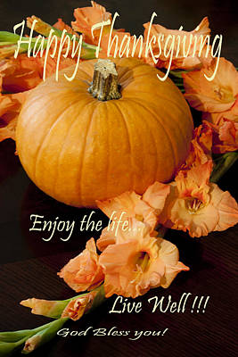 Happy Thanksgiving Poster by Ivete Basso Photography