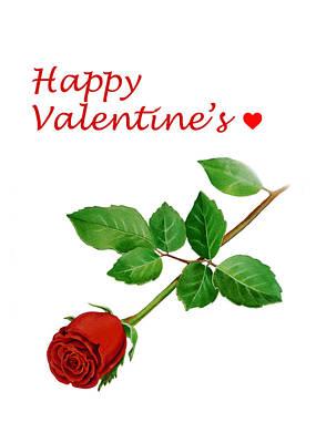 Happy Valentines Poster by Irina Sztukowski