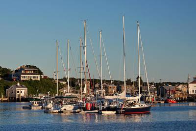 Harbor At Marthas Vineyard Poster